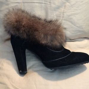 Tod's Ankle Boot with Fur around ankle